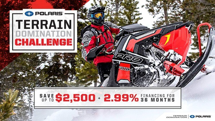Polaris Snow Terrain Domination Sales Event MY2018